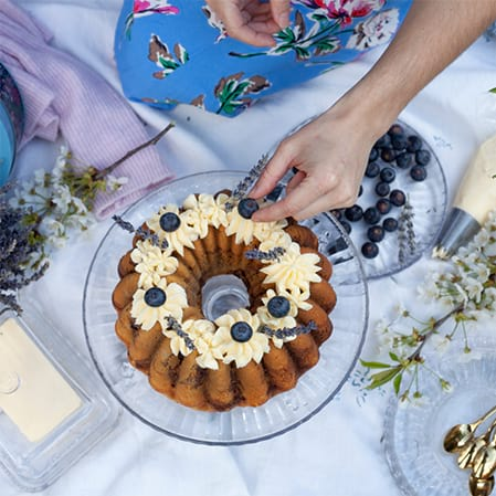 Blueberry And Vanilla Marble Bundt Cake Recipe